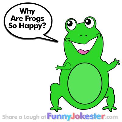 New Funny Frog Joke! Kids Jokes at Funny Jokester Frog Puns
