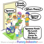 Knock Knock Joke Iguana
