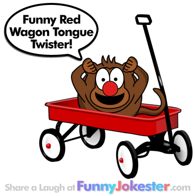 Tongue Twisters Red Wagon