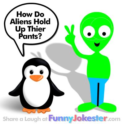 Funny Alien Joke with Cartoon!