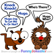 Knock Knock Joke Hugo the Dog