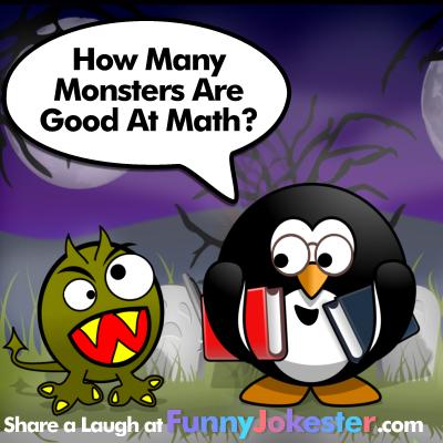 funny halloween monster joke