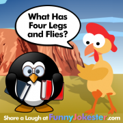 What Has Four Legs and Flies Joke